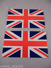 2 x HIGH QUALITY UNION JACK VINYL STICKERS FOR CAR VAN BIKE BOAT BUS 110mmx65mm