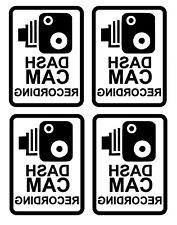 4 On board CCTV / BLACK Camera Warning Sticker / Car Dashcam Decal / Taxi