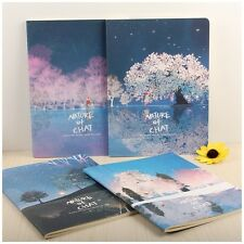 2 x A5 Cute Pretty Dream Winter Art style quality lined Notebook Diary Memo UK