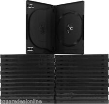 (25) DV3R14WTBK Black Triple 3 DVD 3DVD Disc Cases Boxes SLIM 14mm Hinged Tray