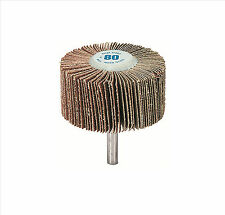 GARRYSON 60 X 25mm 80 GRIT  FLAP WHEEL DISC, ABRASIVE TYRE BUFFER