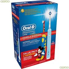 Braun Oral-B PC500 Adult & Kids Family Edition Bundle Mickey Mouse Value 2-Pack