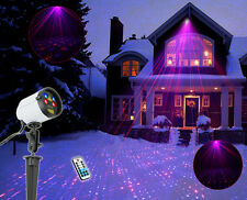 SUNY Full Coverage Outdoor Laser Projector Red Blue Xmas Light Yard JF07-100RBRB