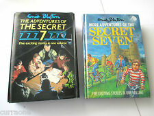 Enid Blyton X 2 ADVENTURES OF THE SECRET 7  hcdj 1986 + HC 1989 5-in-1 omnibus