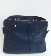 Genuine Italian Leather Made in Italy mod. Vgir with Strap Dark Blue
