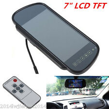 "7"" TFT LCD HD Screen Mirror Monitor For Car Reverse Rear View Backup Camera Kit"