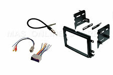 DOUBLE 2 DIN CAR STEREO RADIO DASH KIT MOUNTING TRIM BEZEL W WIRING HARNESS PLUG