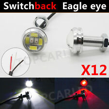 12Pcs Switchback Dual Color Red/White 5630/5730 6-SMD Eagle Eye Led Light DRL 9W