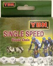 """YBN Single Speed CHAIN S410 S2 1/8""""x 1/2"""" x 96links  BMX Fixie Track SILVER"""