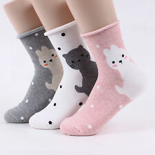 Women's ROLLING ANIMALS SOCKS (5-pack) adorable Roll up fashion Made in Korea OJ
