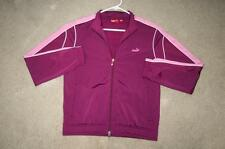 "Large Puma jacket purple pink polyester womens women track athletic coat 21""x24"""