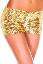 Sexy Women's Mini Sequin Casual Night Elastic Pants Bottoming Shorts Size 8-14