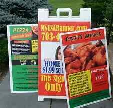 "(2) 24"" x 36"" COROPLAST FULL COLOR, Perfect for A-Frame Inserts & Campaign Signs"