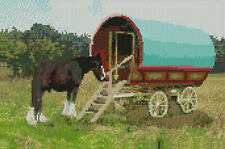 """Gypsy Caravan Complete Counted Cross Stitch Kit 12""""x 8"""""""