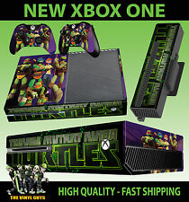 XBOX ONE NICK TOON TEENAGE MUTANT NINJA TURTLE CONSOLE STICKER SKIN &  PAD SKINS