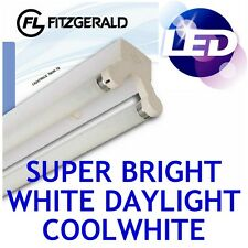 4ft 1200mm Fitzgerald LED Batten Fitting TWIN Tube Light T8 Ceiling 2x 18w = 36w