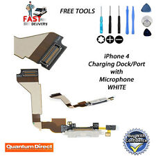 NEW Replacement Charging Dock/Port Assembly + Microphone for WHITE iPhone 4 4G