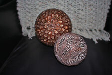 POTTERY BARN FEATHERED SPHERES VAS FILLERS