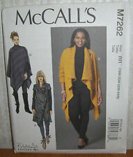 Womens/Misses Sweater Coats & Poncho Sewing Pattern/McCall's M7262/SZ 18W-24/UCN