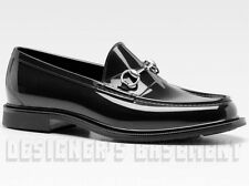 GUCCI mens 7G* Black shiny Rubber JELLIES metal HORSEBIT loafers shoes NIB Auth