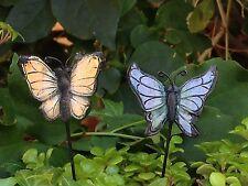Miniature Dollhouse FAIRY GARDEN ~ GLOW in the DARK Butterfly Picks ~ Set of 2