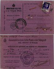 REGNO-50 c Imperiale(251)Ricevuta di ritorno Trieste 18.2.1931