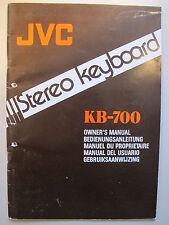 JVC KB-700 Keyboard Anelitung auch in deutsch