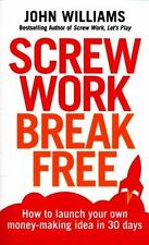 Screw Work Break Free : How to Launch Your Own Mony-Making Idea in 30 Days by...