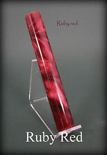 "Acrylic / Resin Pen Blank ... ""Ruby Red"" .. #58"