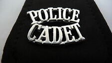 NEW Pair Silver Metal Vintage Police Cadet Badge*
