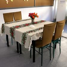 Christmas Tablecloth Tree Gift Table Runner Holiday Home Decor