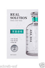 3x MISSHA Real Solution Tencel Sheet Mask (Pore Control) AHA, BHA