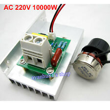10000W AC 220V SCR Voltage Regulator Motor Speed Controller Dimmer Thermostat