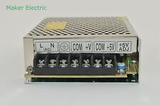 China Factory CE RoHS D-30A 5v 12v dual output ac/dc switching power supply