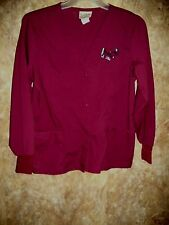 LYDIA'S PRO SERIES LONG SLEEVE SCRUB TOP SIZE M (2 POCKETS)SNAPS, WARM UP