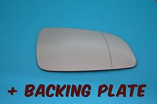 VAUXHALL ASTRA H DESIGN 2004-09  DOOR WING MIRROR GLASS + BACKING PLATE RIGHT