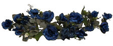 NAVY BLUE SWAG ~ Silk Wedding Flowers Roses Hydrangea Arch Gazebo Centerpieces