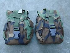 Molle II Canteen and Utility Pouch Woodland Camo Pattern - Lot of two (2)