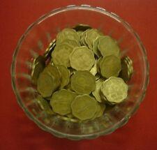 10 paise ~~ 1968-1971 ~~  brass (golden) ~~ 50 COIN LOT ~~ heavy 4.25 grams