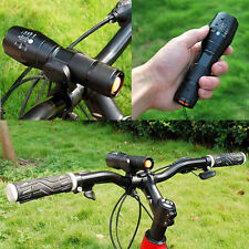 New 5000LM T6 LED 18650 Zoomable Flashlight Torch Bike Light + Cycle Clip Mount
