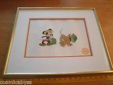 Mr. Mouse Takes a trip VINTAGE LE Sericel Serigraph Walt Disney W/COA Mickey