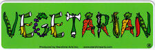 Vegetarian - Magnetic Small Bumper Sticker / Decal Magnet
