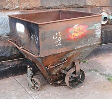 Vintage HERSHEY CHOCOLATE HOPPER * Rolling FIRE PIT * BBQ Cooler * Steam Punk