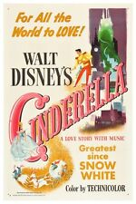 VINTAGE DISNEY MOVIE POSTER - CINDERELLA 8.5 x 11