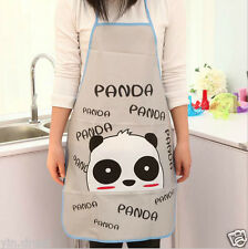 Waterproof Oleophobic Apron Women's Kitchen Cooking Dress Girls Panda Pattern #2