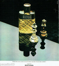 PUBLICITE ADVERTISING 036  1977  Rochas  eau toilette Monsieur