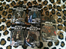 (#5) STAR WARS THE SAGA COLLECTION LOT OF 5 NEW FIGURES Grievous  Exclusive