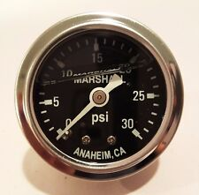 "Marshall Gauge 0-30 Psi Fuel / Oil Pressure Black 1.5"" Diameter (Liquid Filled)"