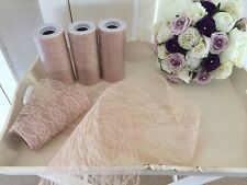 Wedding Vintage Style Deep Cream X1 Roll Of Lace 10 Metres Pew Ends Table Runner