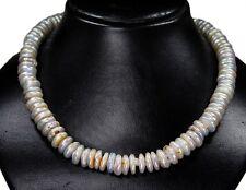 Bezaubernde Kette aus Biwa-Perlen  in Buttonform